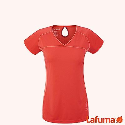 LAFUMA-女SKIM 短袖排汗衣-LFV113427603-橘紅