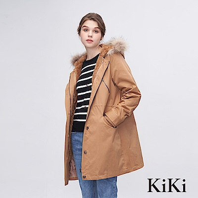 KiKi INLook 二件式多功能風衣外套(駝色)