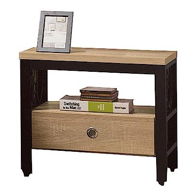 文創集 藍柏頓時尚1.9尺木紋床頭櫃/收納櫃-56.4x40.1x48.8cm-免組
