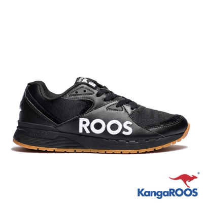 KANGAROOS 男 RUNAWAY ROOS復古跑鞋(黑)