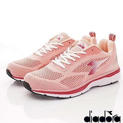 DIADORA-飛織輕彈跑鞋款 SE012粉(女段)