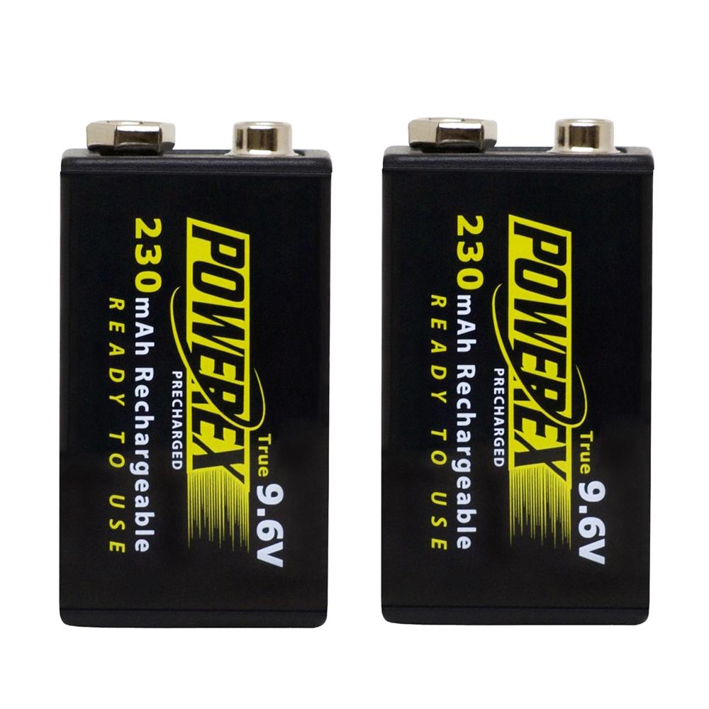POWEREX 9V低自放鎳氫充電池MHR9VP(230) 2顆