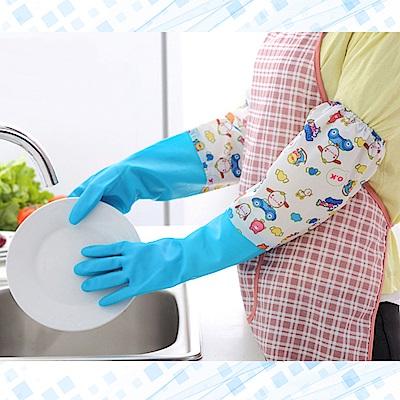 Effect 手感舒適-加絨束口洗碗手套(2雙入)