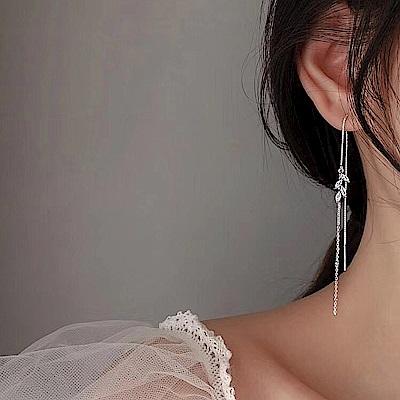 梨花HaNA 韓國925銀浪漫時節葉語耳線耳環