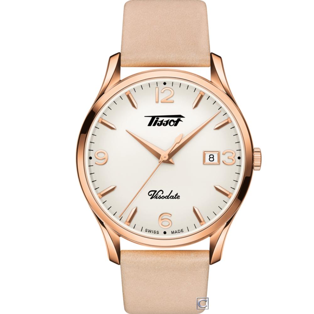 TISSOT天梭HERITAGE VISODATE復刻腕錶(T1184103627701)
