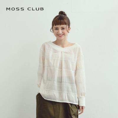 【MOSS CLUB】MIT製 雙面穿造型-襯衫(米色)
