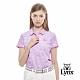 【Lynx Golf】女款吸濕排汗抗UV夏季海洋風短袖POLO衫-淺紫色 product thumbnail 2