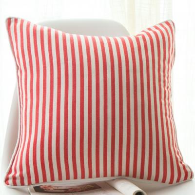 紅白直條抱枕 45cmx45cm 1顆(含枕心)