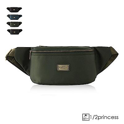 1/2princess高磅防潑水尼龍休閒二用斜側胸包腰包-軍綠[A2781](快)