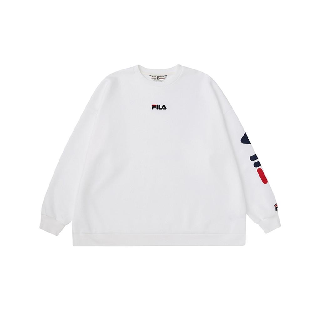 FILA #扳勢回潮 長袖圓領T恤-白色 1TEV-5410-WT