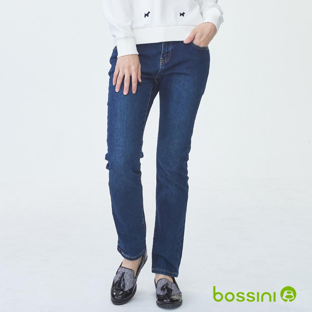 bossini女裝-保暖合身牛仔褲02海軍藍