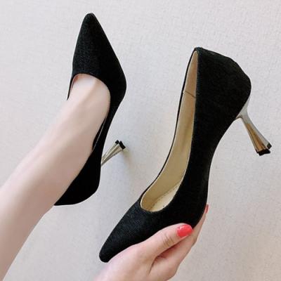 KEITH-WILL時尚鞋館 年度精選閃耀經典細跟鞋-黑