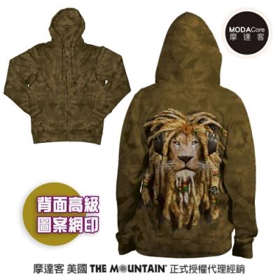 摩達客 預購 美國進口The Mountain DJ加滿獅 女版長袖連帽外套