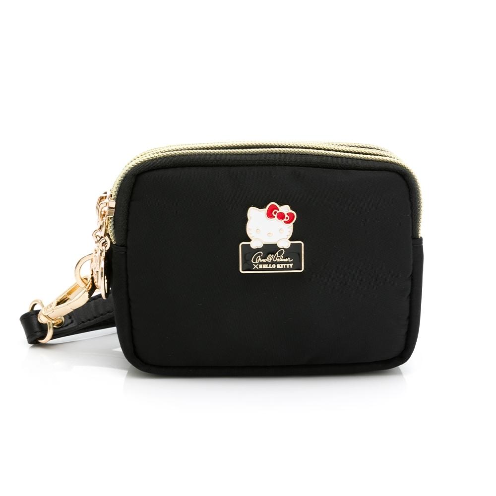 Arnold Palmer - 三層零錢包附手挽帶 Charming系列 - 黑色