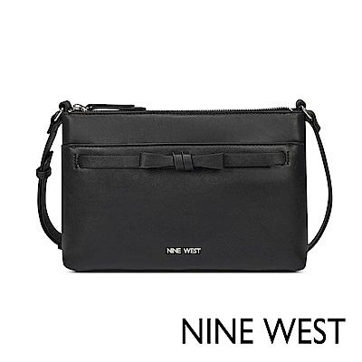 NINE WEST CAITLYN扭結造型斜背包-黑色(521869)