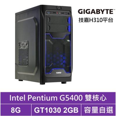 技嘉H310平台[戰鬥魔兵]雙核GT1030獨顯電腦