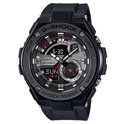 G-SHOCK精密防震分層防護構造概念休閒錶(GST-210B-1A)-黑框X黑52.4mm
