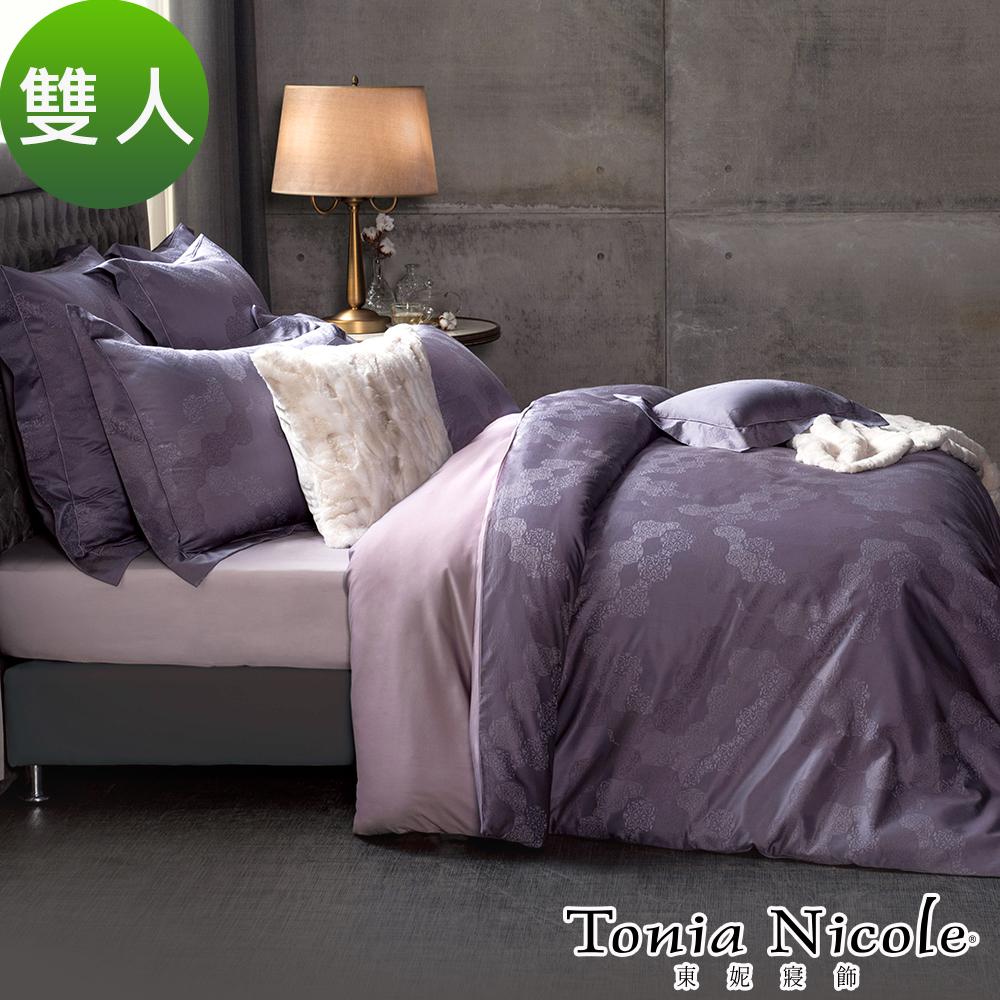 Tonia Nicole東妮寢飾 戀戀雪城蠶絲高紗支精梳棉緹花被套床包組(雙人)