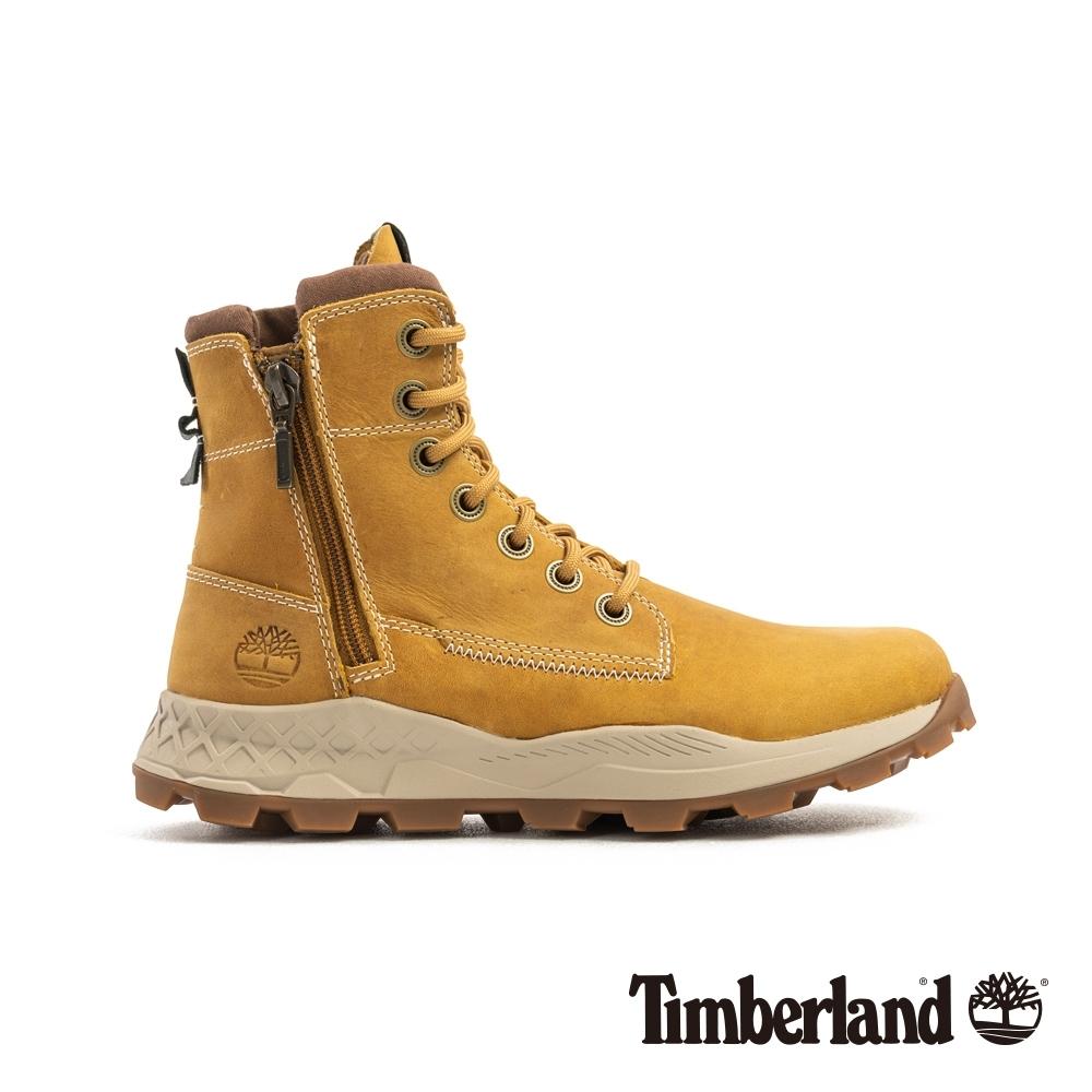 Timberland 男款小麥色全粒面革側拉鍊靴|A271U