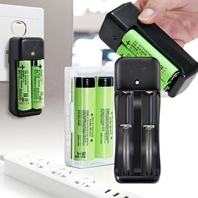 18650新版充電式鋰單電池3350mAh(日本松下原裝正品)(2入)+智慧型認證雙充1+防潮盒1