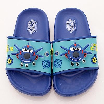 SUPER WINGS 超輕量拖鞋款 EI4720藍(中小童段)