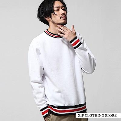 內刷毛羅紋線條運動衫(6色) ZIP日本男裝 @ Y!購物