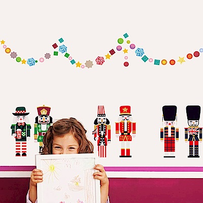 半島良品 DIY無痕壁貼-娃娃兵 MJ7002  50x70cm