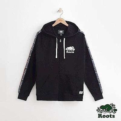 男裝Roots 法蘭克連帽外套-黑