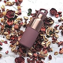 美國HYDY時尚保溫瓶_CinCin Déco乾燥玫瑰-蜜粉金瓶 480ml