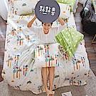戀家小舖 / 單人床包被套組  點點善-純真天賦-兩色可選  100%精梳棉  台灣製