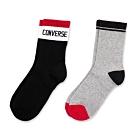 CONVERSE 中筒襪 二入組 (紅黑) 10007288-A01