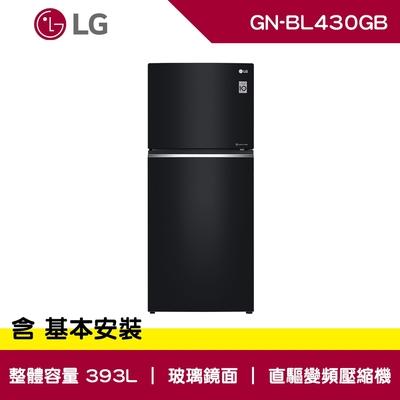 LG樂金 393L 鏡面 直驅變頻 雙門冰箱 曜石黑 GN-BL430GB