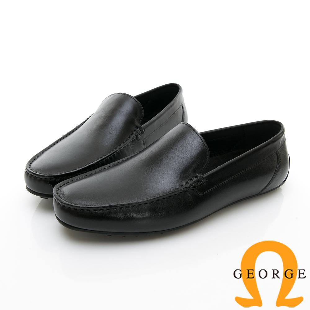【Amber】舒適時尚  舒適直套式休閒鞋-黑色