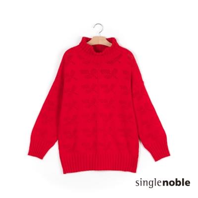 獨身貴族 冬日率性翻領保暖針織上衣(3色)