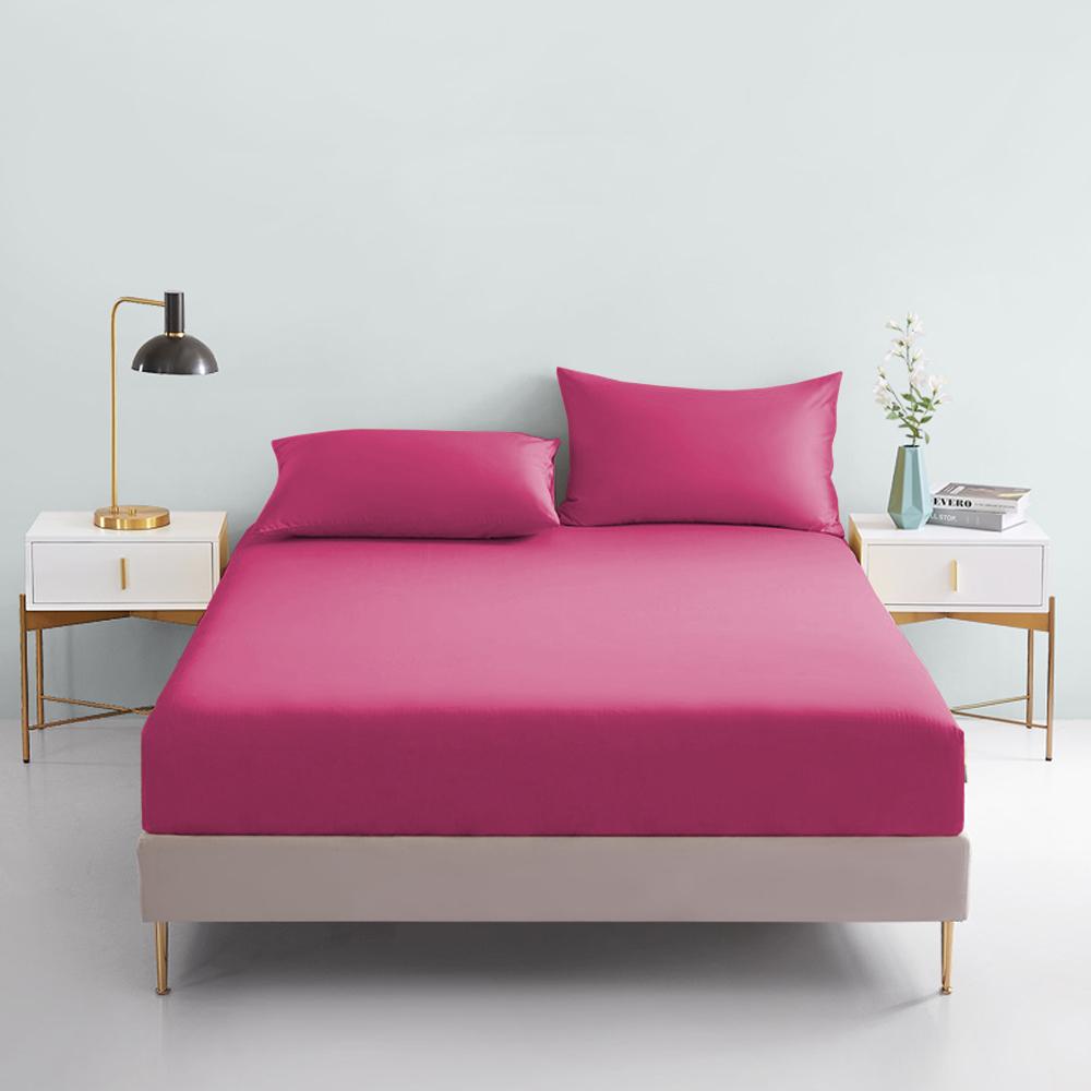 澳洲Simple Living 單人300織台灣製純棉床包枕套組(浪漫桃)