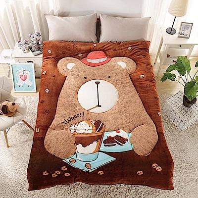 Grace Life 可愛造型多用途定位冷氣毯一入-吃貨熊