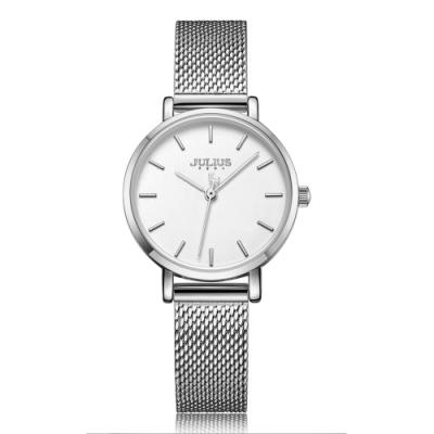 JULIUS聚利時 天使之戀簡約米蘭錶帶腕錶-五色/28mm