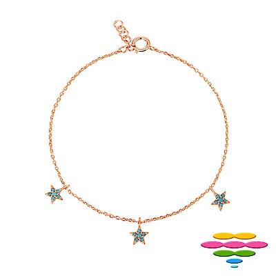 彩糖鑽工坊 星星手鍊 銀鍍玫瑰金手鍊 桃樂絲Doris系列