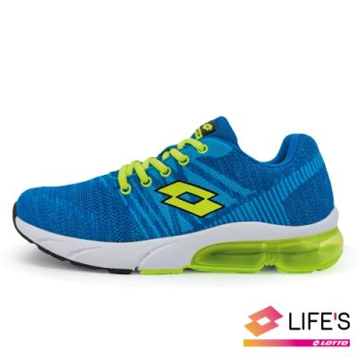 LOTTO 義大利 童 SUPERLITE 氣墊跑鞋 (藍綠)