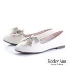 Keeley Ann我的日常生活 漸層緞帶平底娃娃鞋(白色-Ann系列)