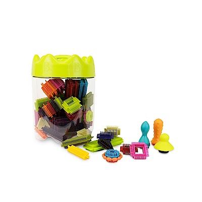 美國【B.Toys】布萊斯特鬃毛積木-花冠筒(68pcs)