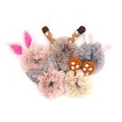 JoyNa【4入】兒童髮飾卡通兔子耳朵毛毛髮圈