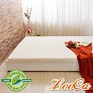 LooCa 法國Greenfisrt天然防蹣防蚊5cm乳膠床墊-白 雙人5尺