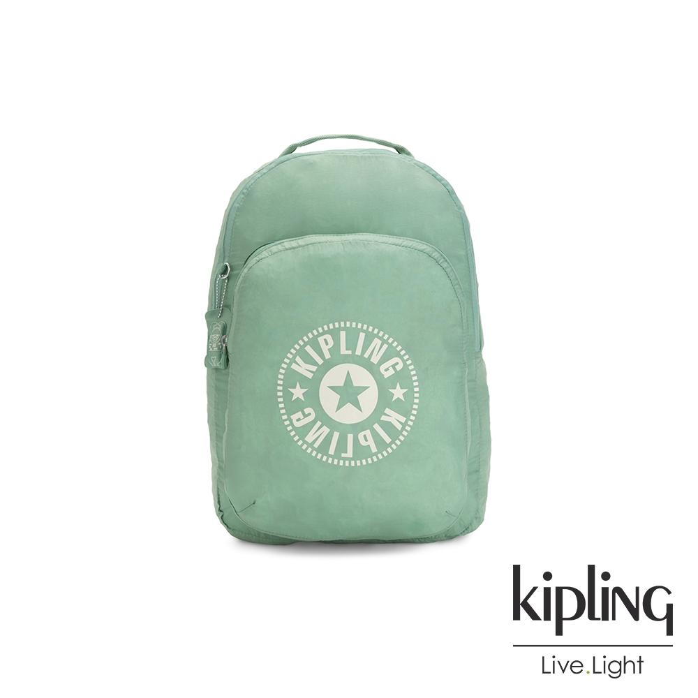 Kipling 清新薄荷綠好收納後背包-BACKPACK