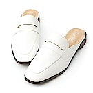 D+AF 隨性印象.經典款平底穆勒鞋*白