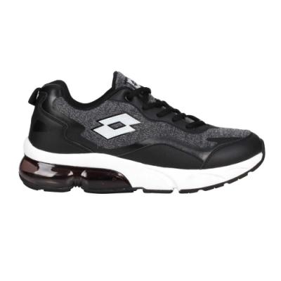 LOTTO 男氣墊慢跑鞋-路跑 運動 避震 透氣 LT0AMR2180 深灰黑白