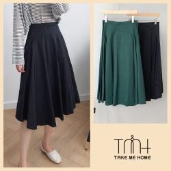 韓國兩面穿傘擺短裙-2色-TMH