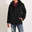 海鷗 Hollister 年度熱銷經典標誌防風防潑水風衣外套-黑色