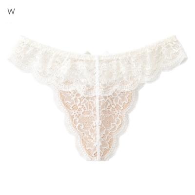 aimerfeel 性感裸肌蕾絲丁字褲-白色-599223-W