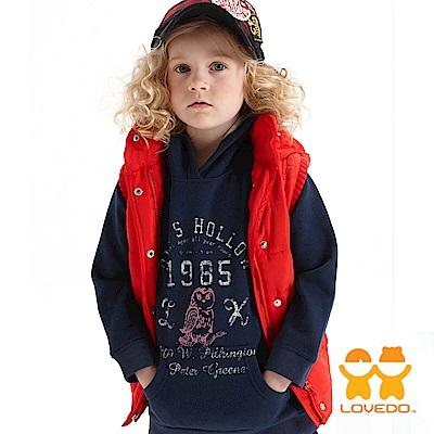 【LOVEDO-艾唯多童裝】街頭派對 保暖連帽背心外套(紅)